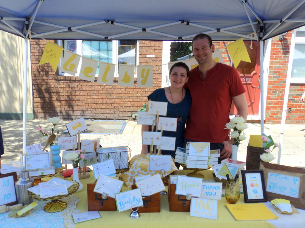 Betsy Ann Paper at East Passyunk Avenue Crafty Balboa Craft Fair / Her Philly
