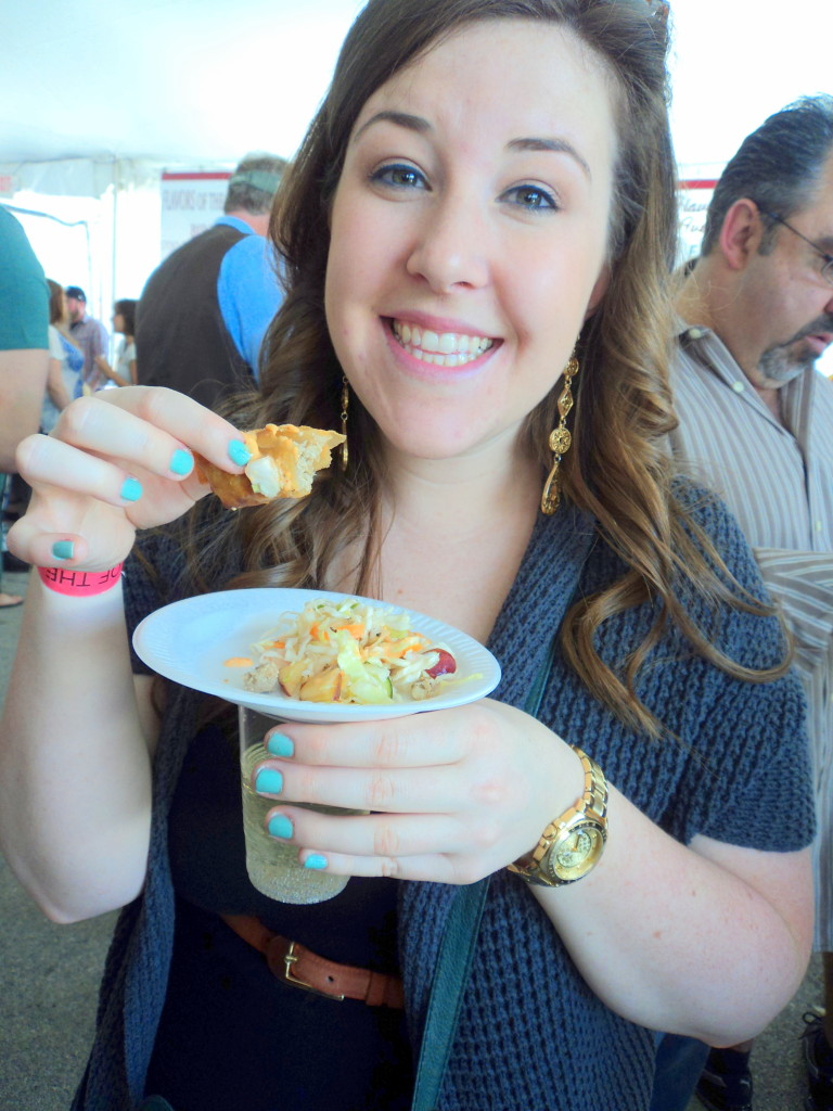 Emily Tharp of Her Philly chomps on delicious Ippolito's Seafood