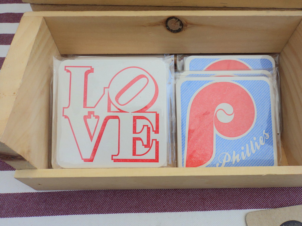 Black Heart Letter Press Philadelphia coasters at East Passyunk Avenue Crafty Balboa Craft Fair / Her Philly