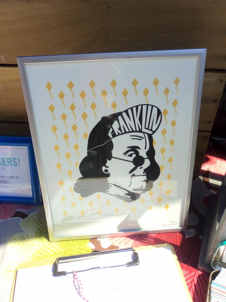 Frankadelphia Ben Franklin print at East Passyunk Avenue Crafty Balboa Craft Fair / Her Philly
