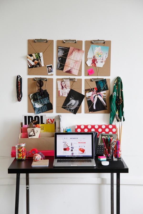 Decorating an office // Her Philly Small Apartment Space Decorating Ideas via Pinterest