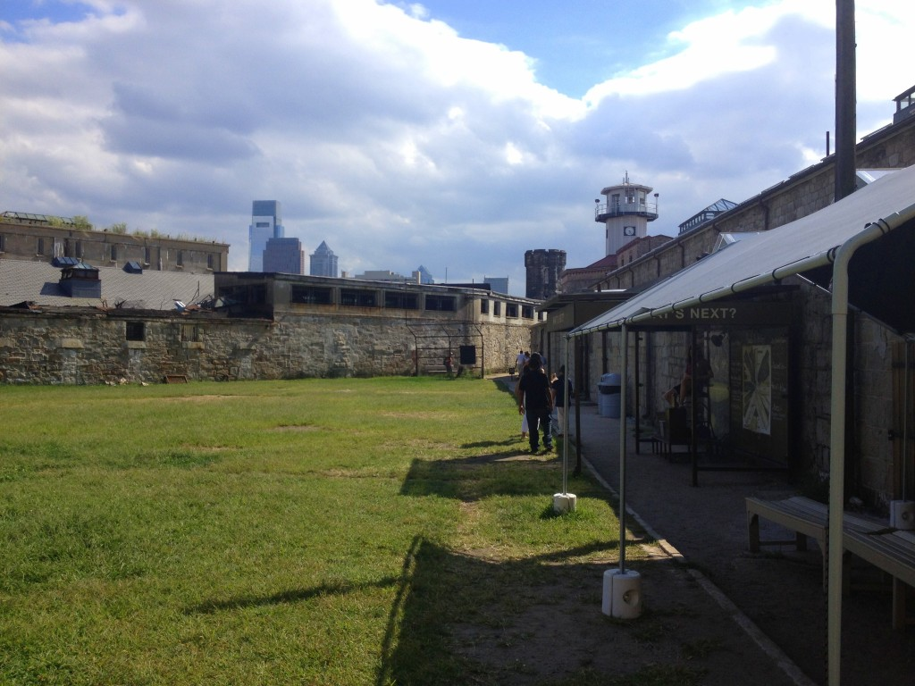 Penitentiary with Philly skyline // Her Philly