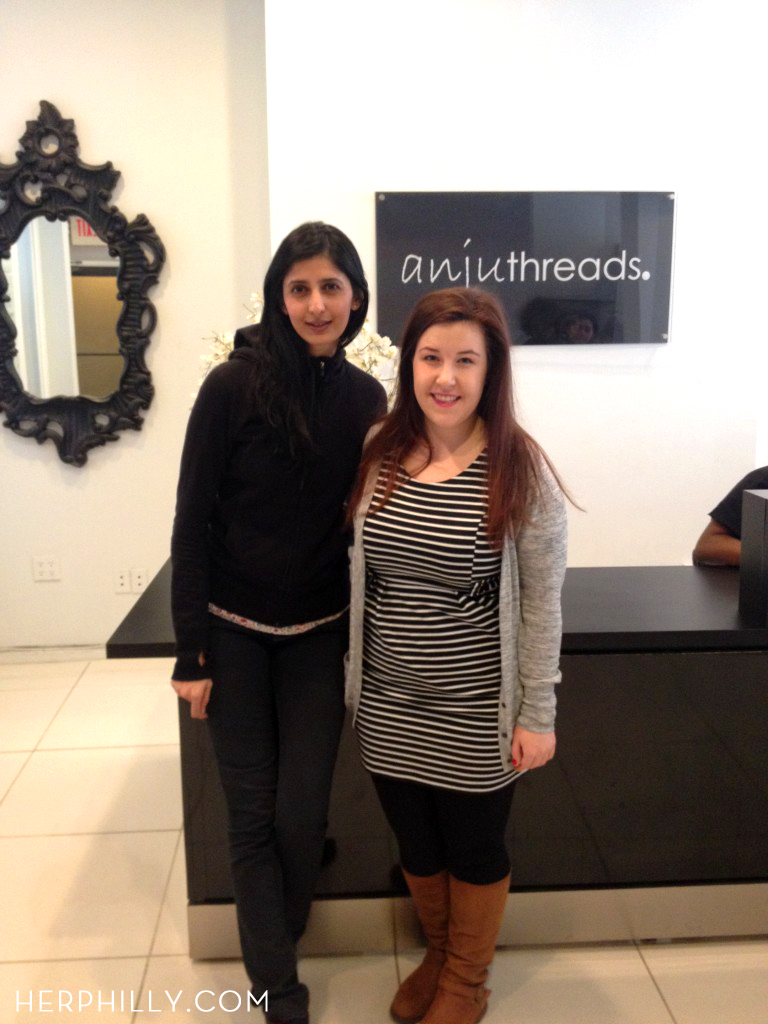 Anju of Anjuthreads and Emily Tharp of Her Philly