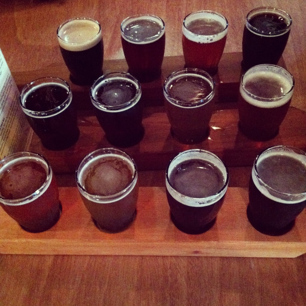 Yards Brewery flights Philadelphia // Her Philly