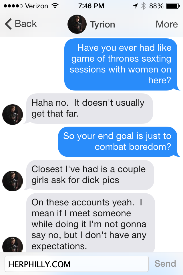 Game of Thrones online dating // Her Philly