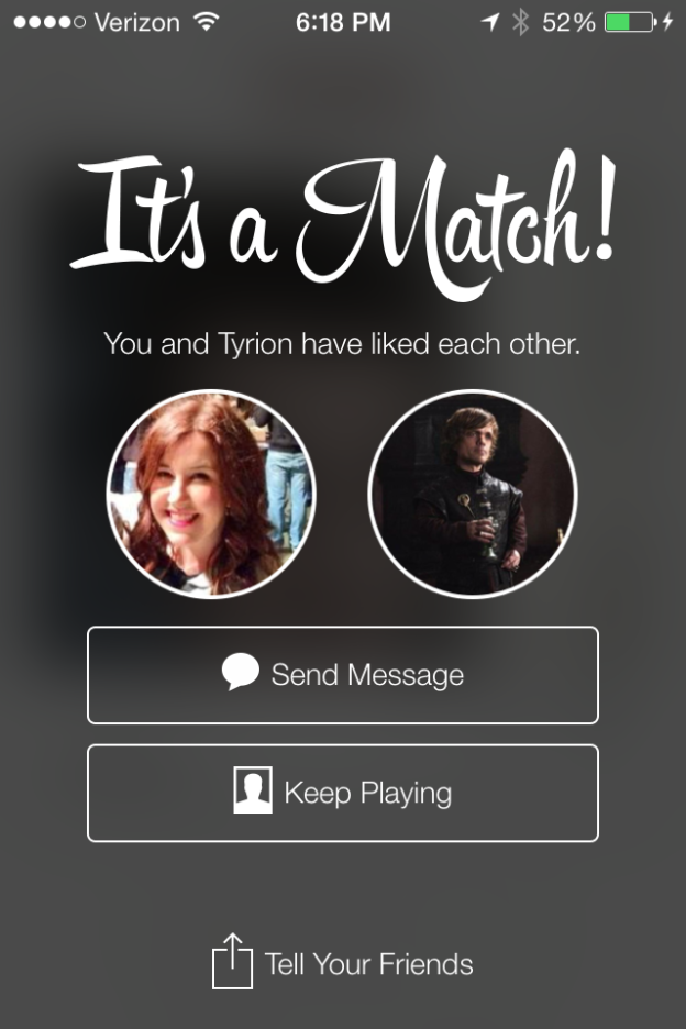 Matching with Tyrion Lannister on Tinder // Her Philly