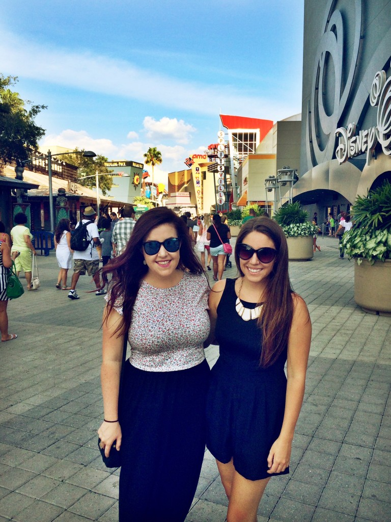 Emily Tharp and Lindsay Tharp at Downtown Disney // Her Philly