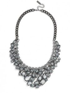 Baublebar Heartbreaker Bib Necklace Hematite // Her Philly