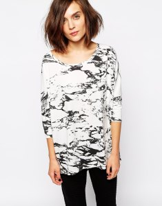 ASOS Selected Denni T-Shirt in Marble Print // Her Philly