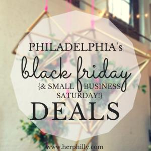 Black Friday and Small Business Saturday Philadelphia
