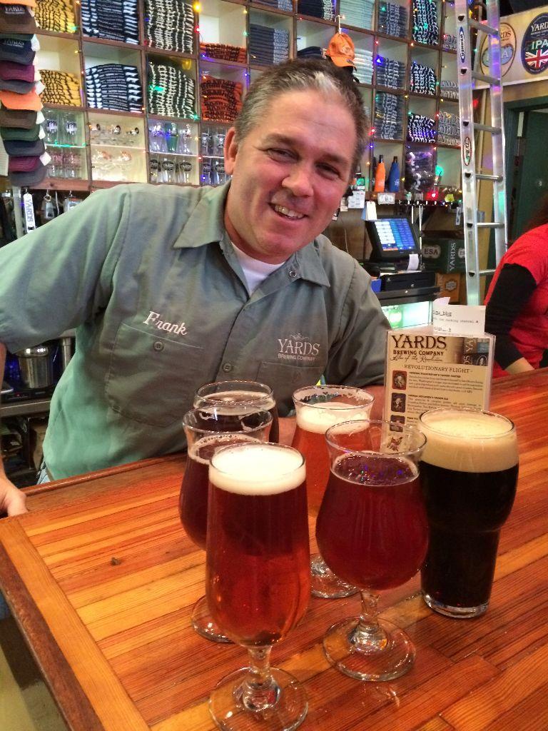 Yards Tasting Room Manager Frank McLaughlin