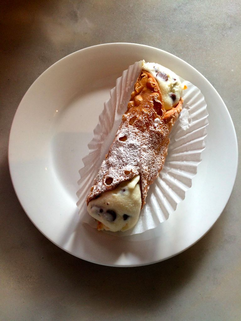 cannoli at Stella Pastry and Cafe