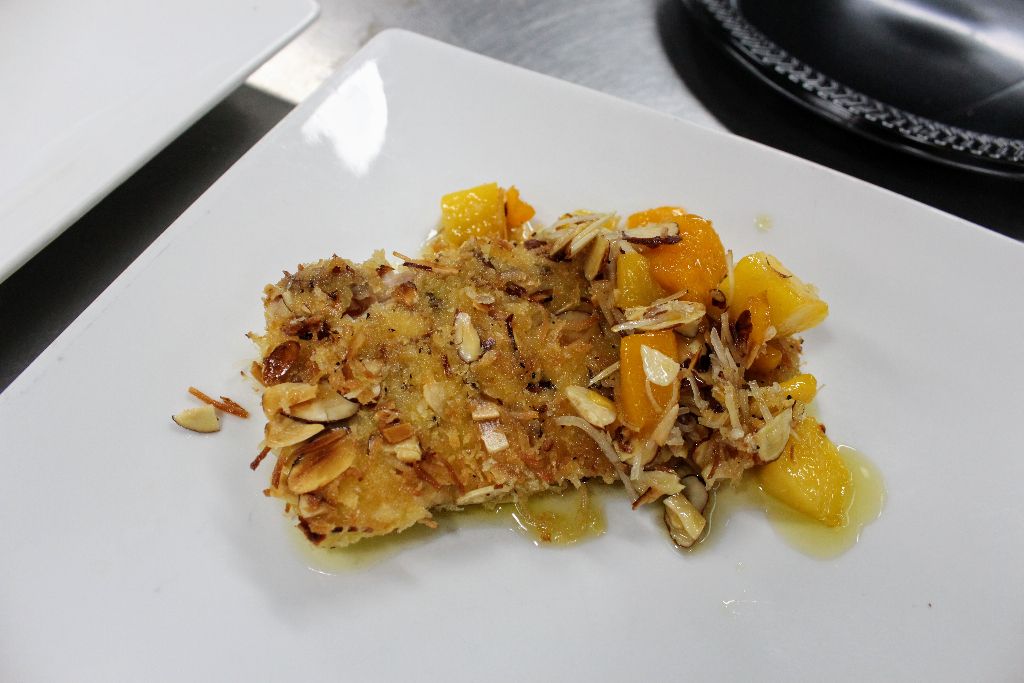 Coconut Almond Mango Snapper