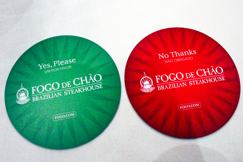 How to order at Fogo de Chao