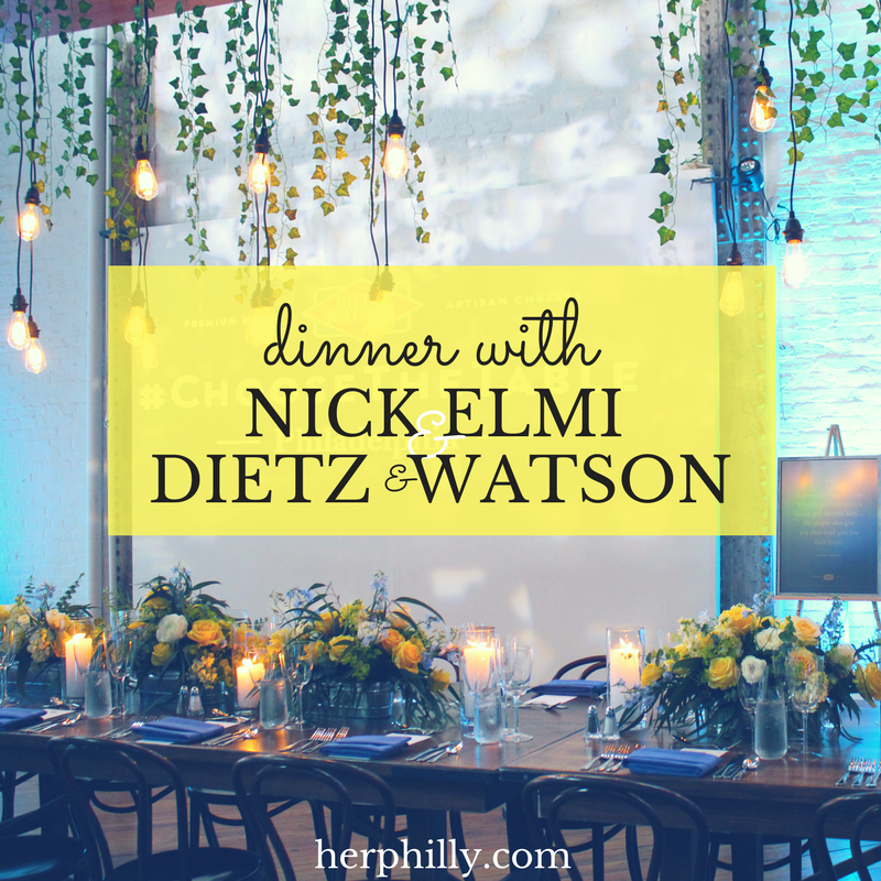 Dinner with Nick Elmi and Dietz & Watson #ChoosetheTable